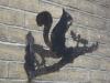 Squirrel detail - Bellevue Road, Ryde