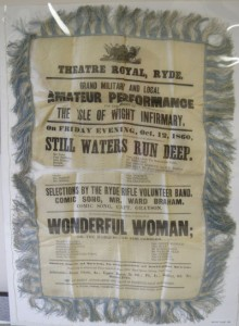 Original Silk, advertising banner for Theatre Royal Ryde